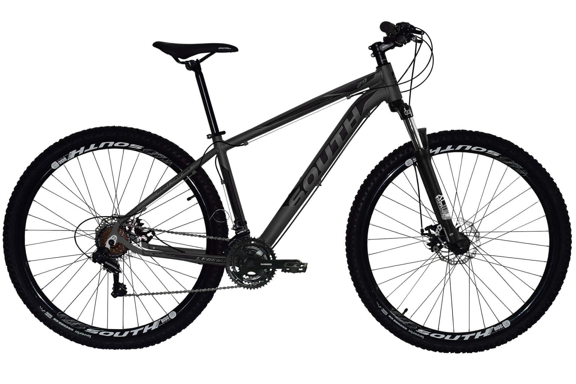 Bicicleta South Legend Shimano - 21 Marchas - Suspensão 100mm - Aluminio