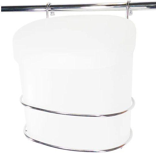 Lixeira Branca C Suporte  Aço Inox
