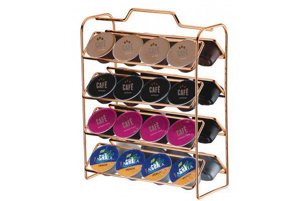 Organizador para Cápsulas de Café - Compatível c/ Dolce Gusto Rosé Gold