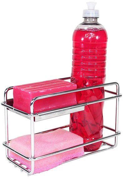 Porta Detergente Para Bancada  Aço Inox