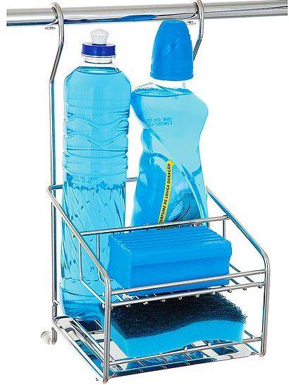 Porta DetergenteSabãoEsponja  Cromado
