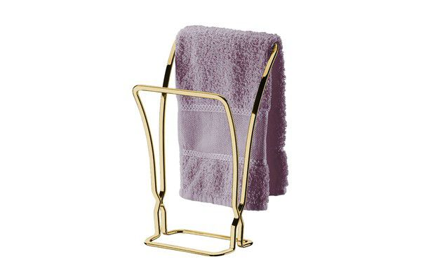 Porta Toalha Bancada  Dourado