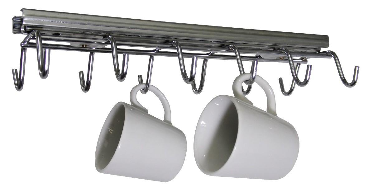 Porta Xícaras Com Trilhos Telescópicos