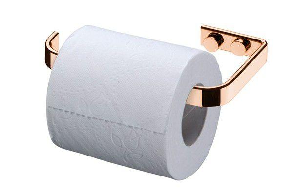 Suporte Para Papel Higienico Rosé Gold