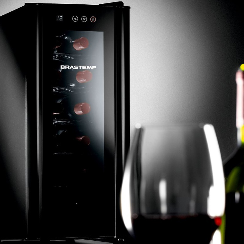 Adega de Vinhos Climatizada Brastemp para 12 Garrafas - BZC12BE - 127V