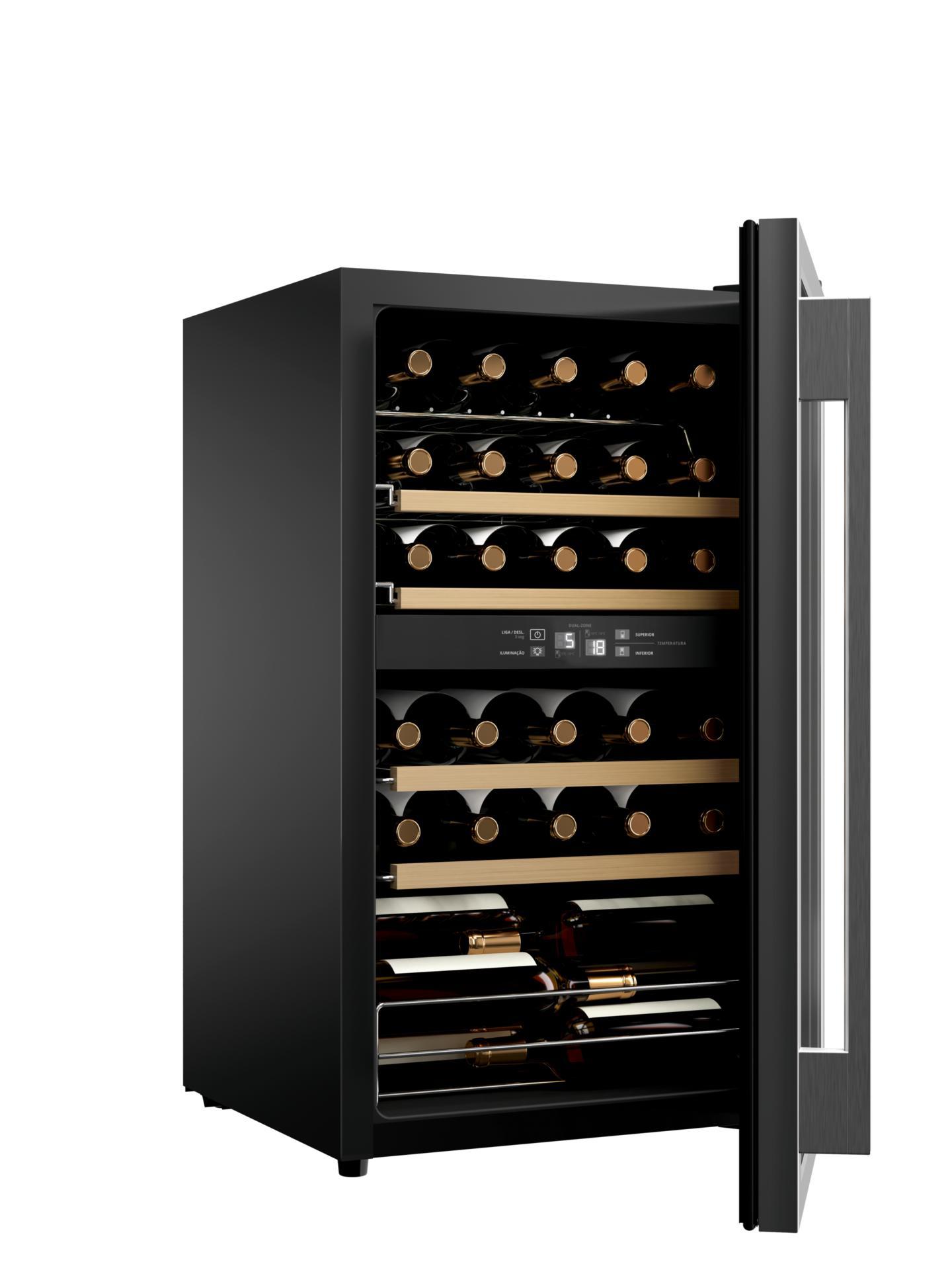 Adega de Vinhos Climatizada Brastemp para 33 Garrafas - BZB33BE - 127V