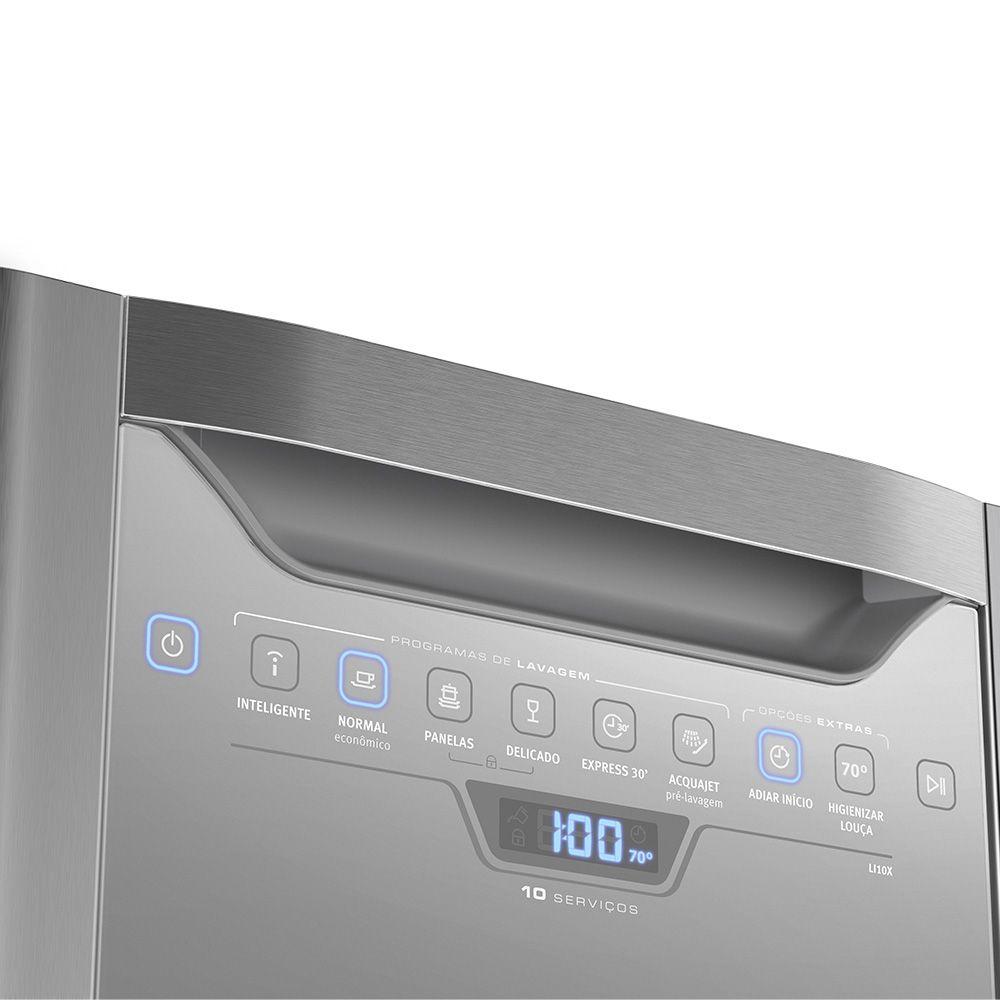 Lava-Louças 10 Serviços Inox Electrolux - LV10X - 127V