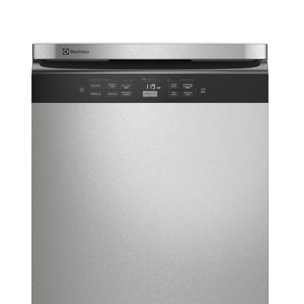Lava-Louças Electrolux 14 Serviços Inox com Função Higienizar Compras - LL14X - 127V