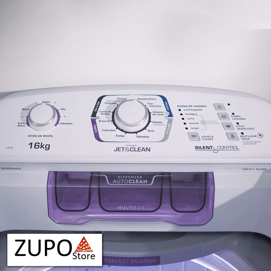 Lavadora de Roupas 16 Kilos Branca Electrolux - LAC16 - 127V