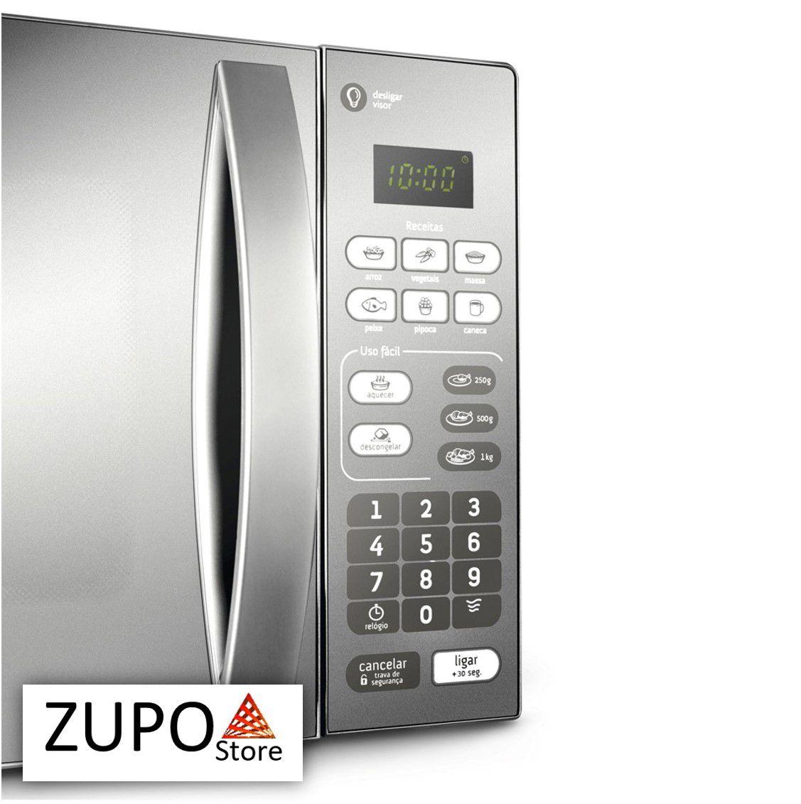Micro-ondas 20 Litros Prata Espelhado Consul - CM020BF - 127V