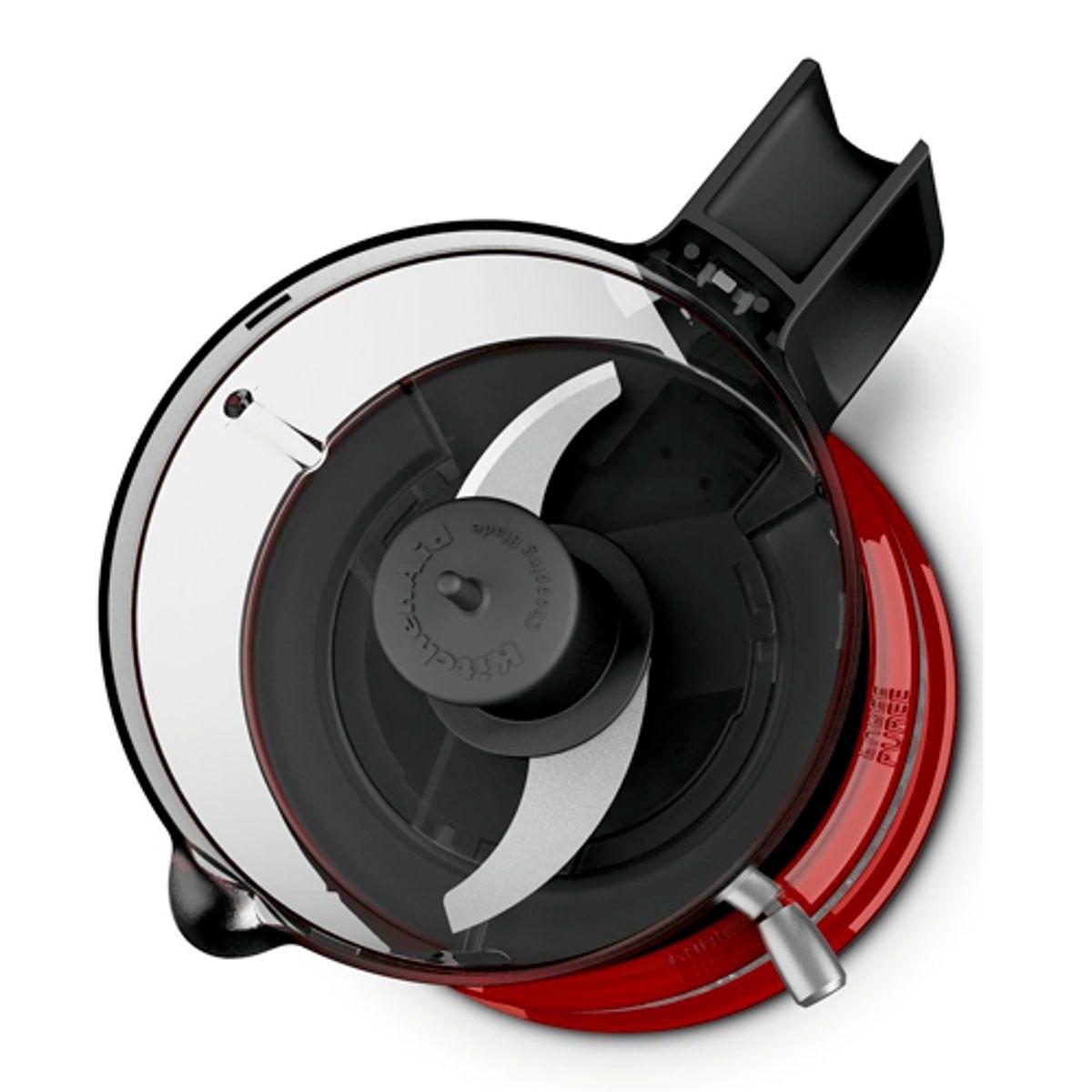 Mini Processador de Alimentos KitchenAid Empire Red com 2 Velocidades e Capacidade de 0,8 Litros - KJA03BV - 127V
