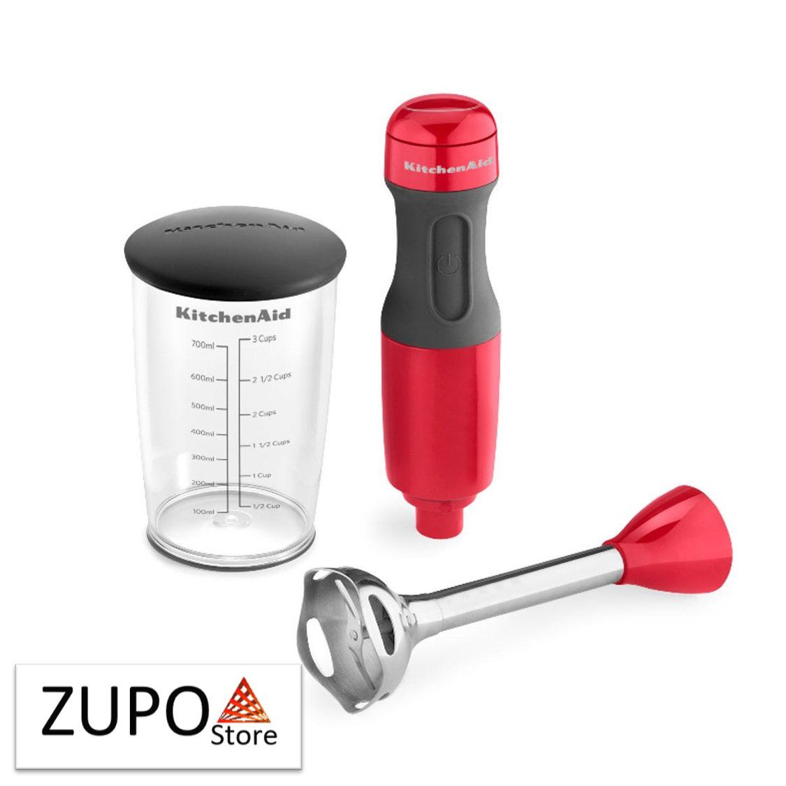 Mixer de Mão KitchenAid Empire Red KEB35 com 2 Velocidades - 127V