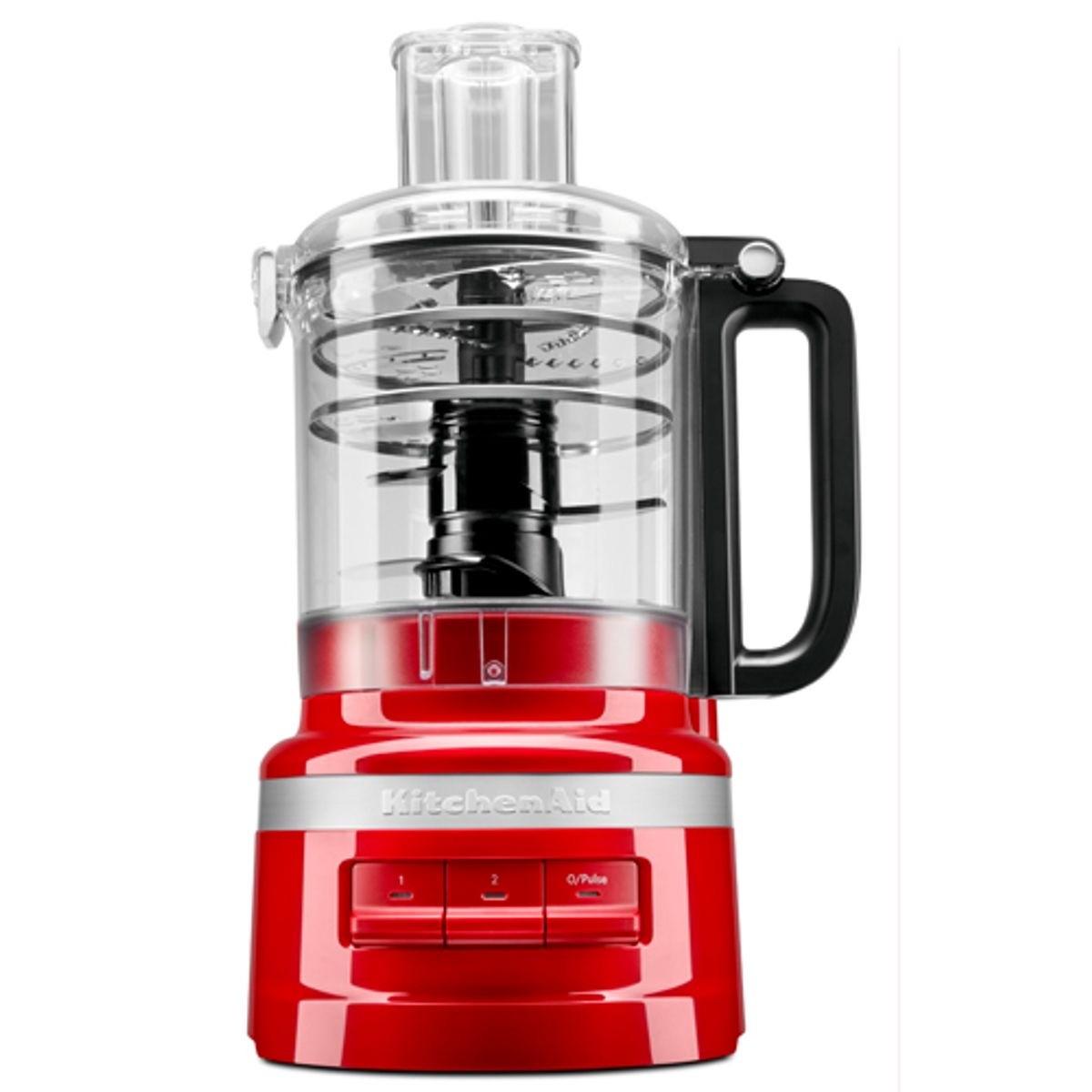 Processador de Alimentos KitchenAid Empire Red com 3 Velocidades, Capacidade de 2,1 Litros e Múltiplas Funções - KJA09BV - 127V