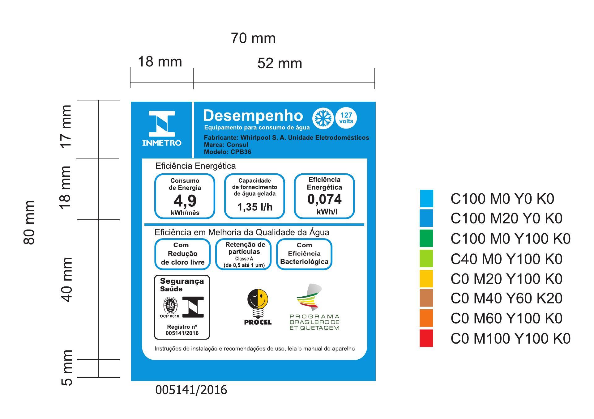 Purificador de Água Consul Bem Estar Refrigerado por Compressor Branco - CPB36AB - 127V