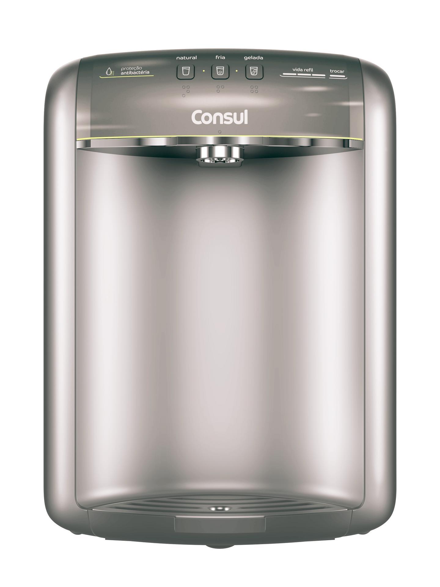 Purificador de Água Consul Bem Estar Refrigerado por Compressor Cinza - CPB36AF - 127V - OUTLET