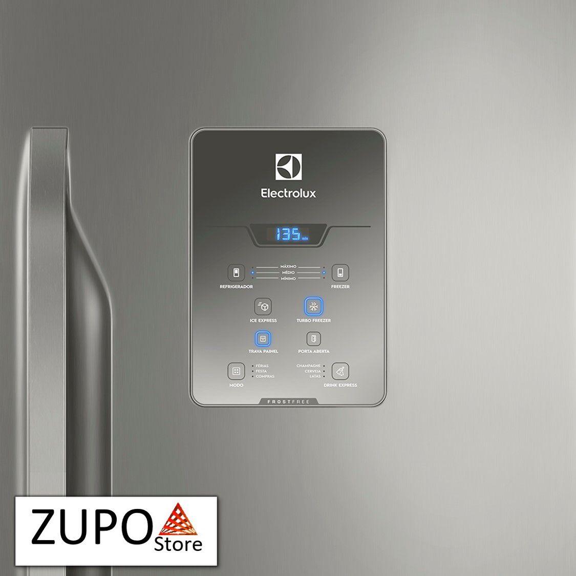 Refrigerador Inox 598 Litros Electrolux - DB84X - 127V