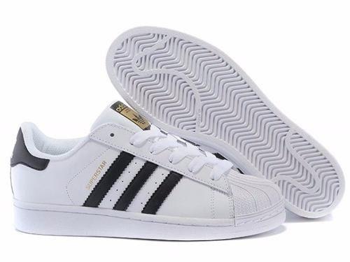 8a6aeda791e Adidas Super Star Branco Com Listras Pretas - roud.com.br