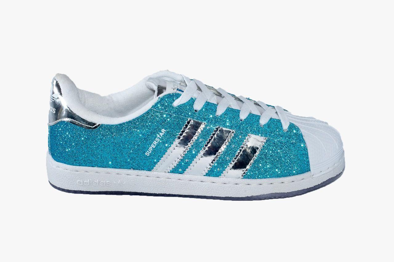 717a29bb821 Adidas Super Star Azul Gliter - roud.com.br