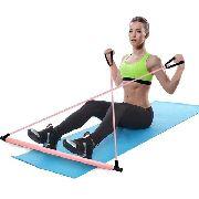Barra Para Exercícios Fitness Yoga Abdominal Corda Borracha