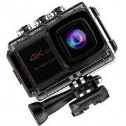 Camera Sport Action 4k 25 Fps Wifi - Kit De Acessórios Ação BRANCA