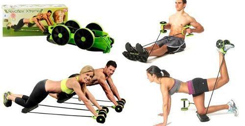 Revoflex Elastico Roda Exercicio Abdominal Revoflex Emagrecer E Tonificar Seu Corpo Execute Até 40 Exercícios