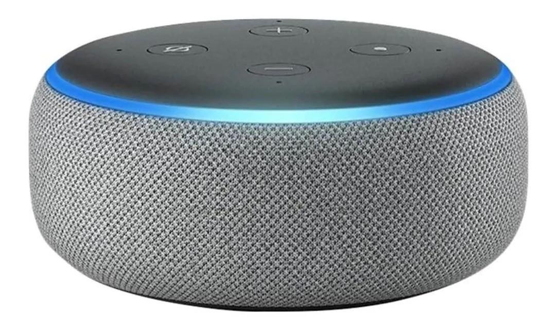 Amazon Smart Speaker Alexa Echo Dot 3ª Geração Cinza Linda
