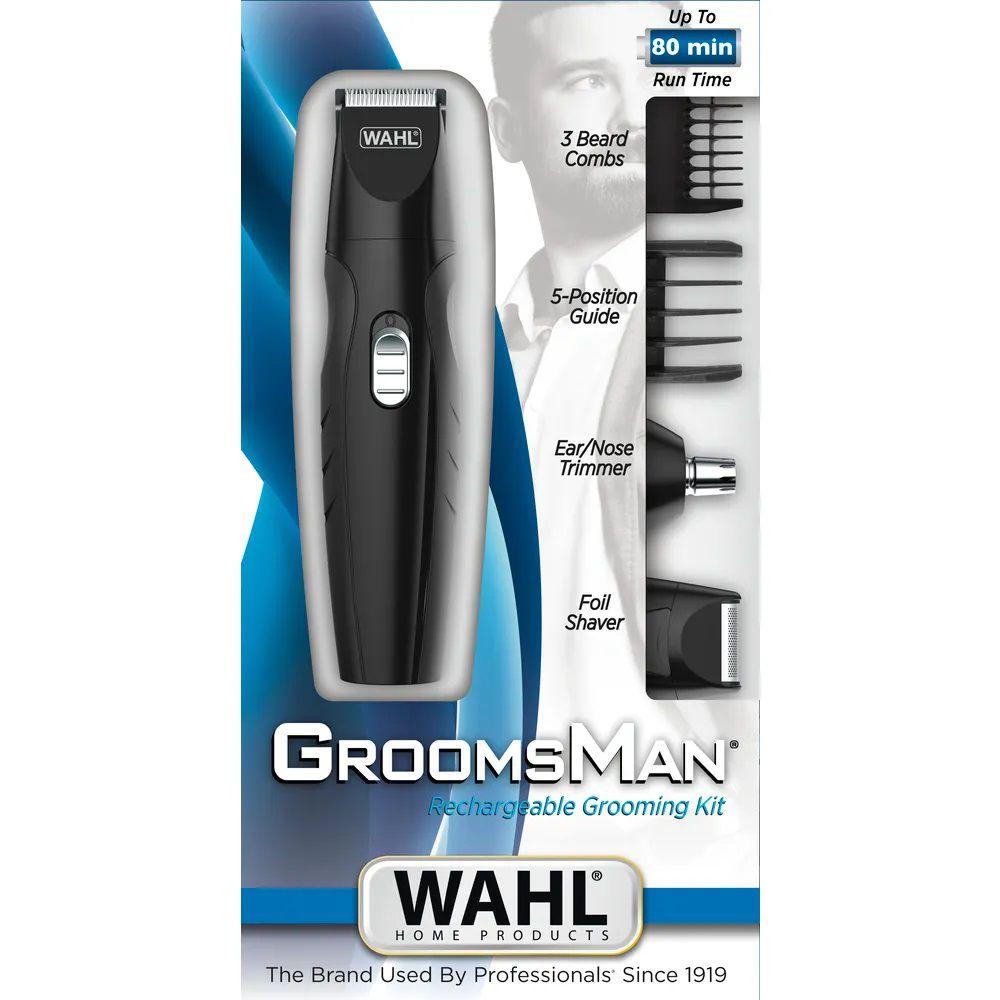 Aparador De Pelos Cabelos Groomsman Grooming Kit Wahl Bivolt