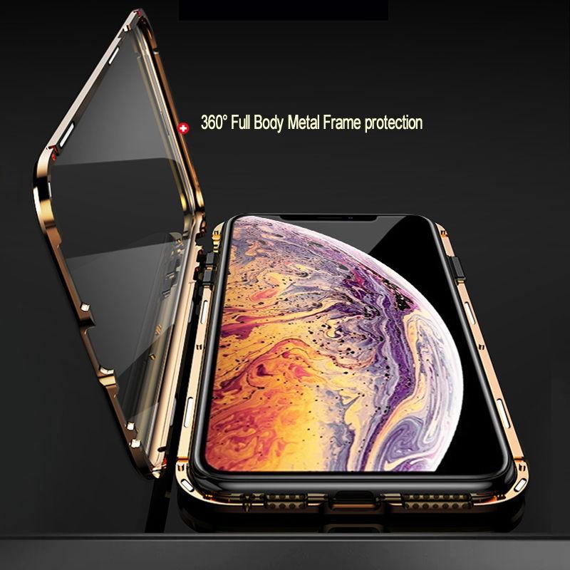Case magnética de metal para iphone XR VERMELHA CAPA
