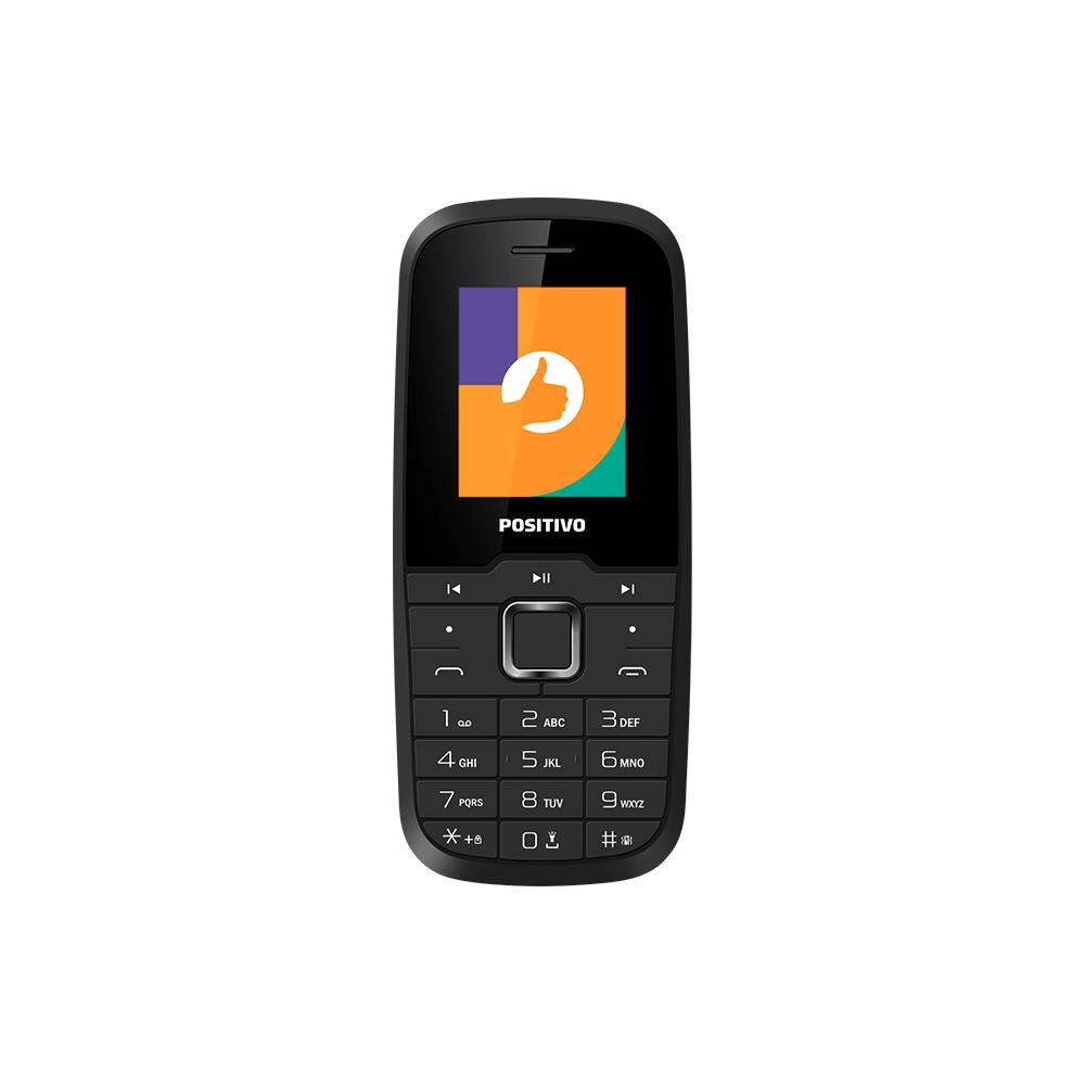 Celular Positivo P26, Dual chip, Tela 1.8'', Memória interna 32MB, Rádio FM