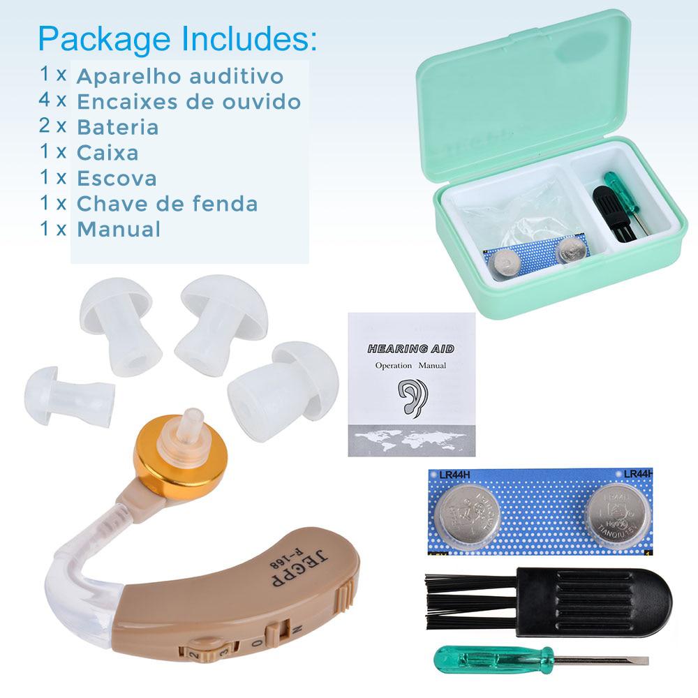 Dispositivo amplificador de voz aparelhos auditivos realçador de som ajustável kit aparelho auditivo