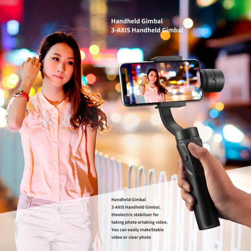 Estabilizador de Celular 3-axis GINBAL flexível h4 handheld cardan para iphone 11 9 8 huawei samsung telefone inteligente câmera de ação