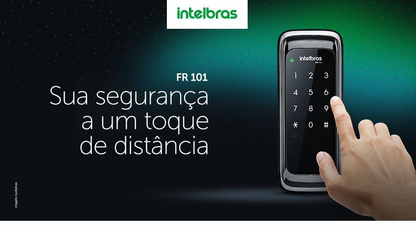 Fechadura Digital Fr101 Senha Intelbras Touch Screen Segurança de seu patrimônio está a um toque de distância.