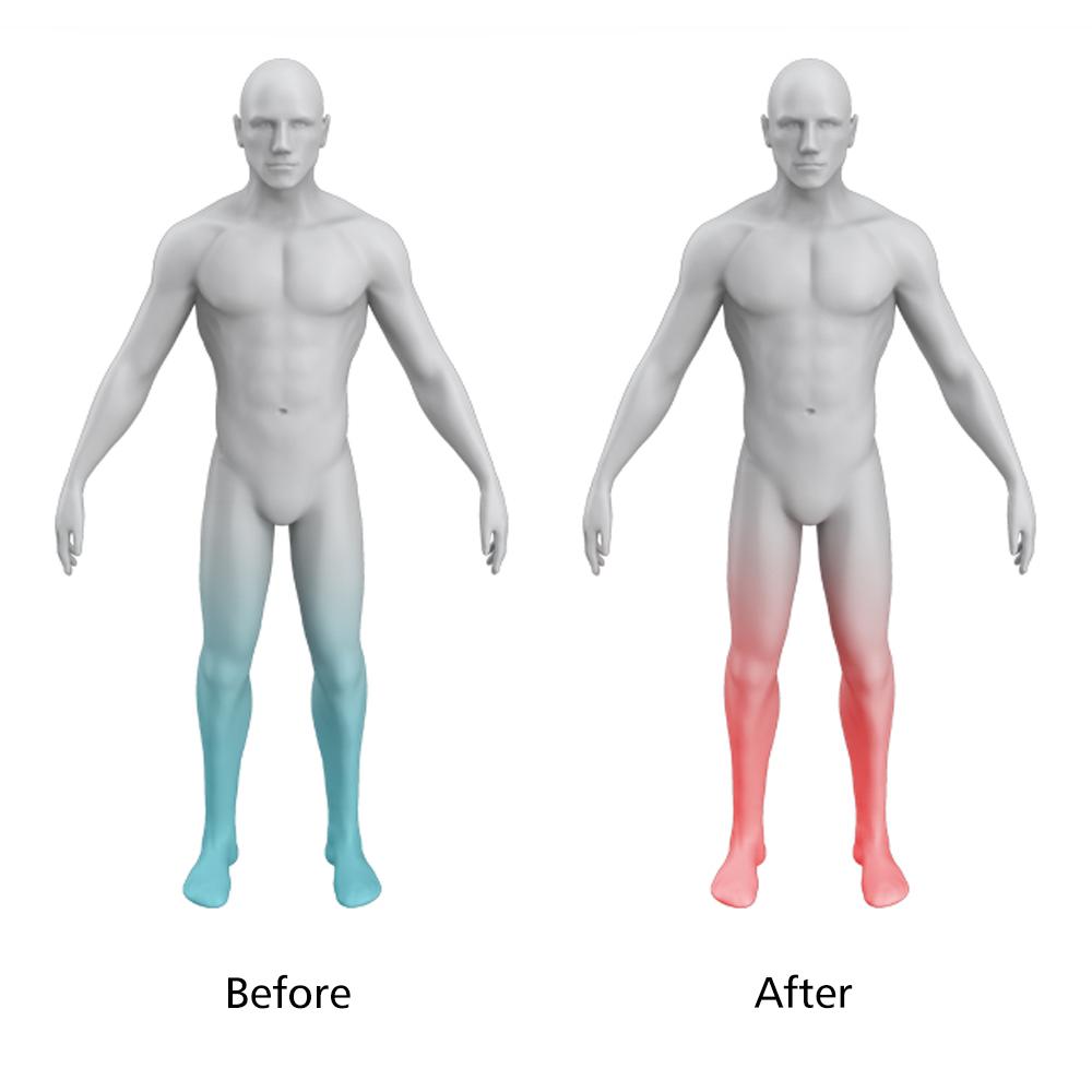 Fisioterapia para pé massageador estimulador muscular sem fio