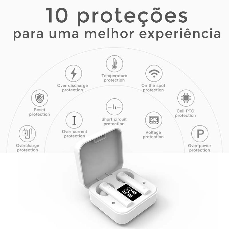 FONE DE OUVIDO EAR DOTS 5.0 TRUE WIRELESS AIR2 EARBUDS PRETO