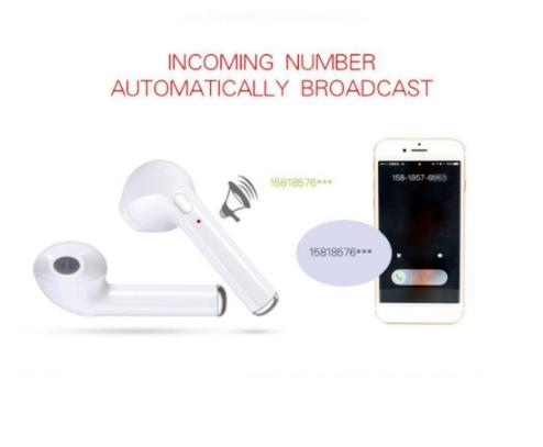 Fone de Ouvido/Headset TWS sem Fio BT / Estéreo para iPhone/Android
