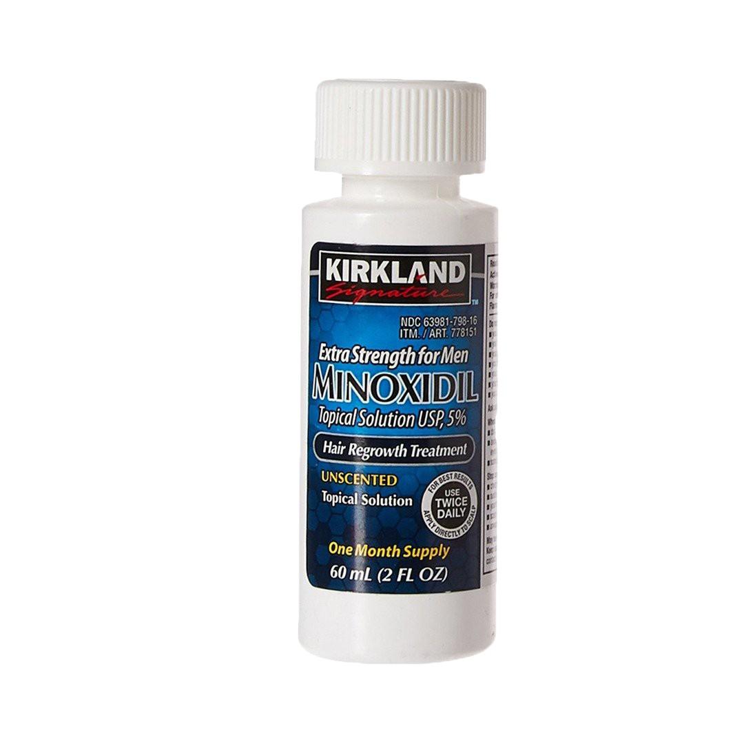 Kirkland Minoxidil 5% de força extra para tratamento de queda de cabelo para homens 6 MESES DE TRAT