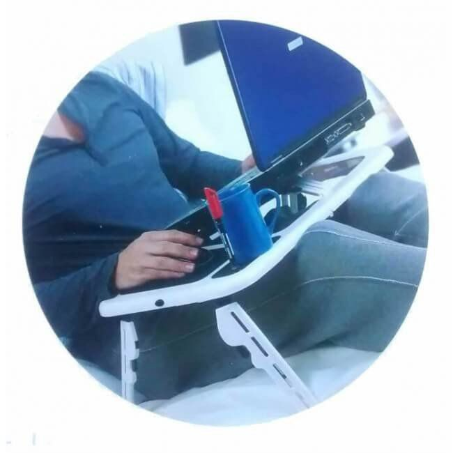 Mesa para Notebook com /cooler e /sensor Tomate com Suport Apoio de Copo NOVIDADE