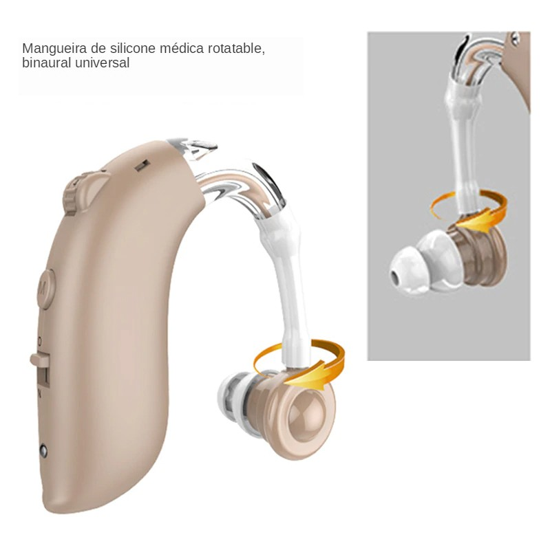 Mini amplificador de som recarregável para idosos portátil digitais