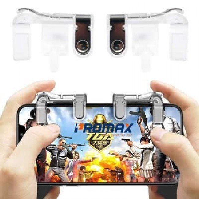 Par de Controles Joysticks Gatilhos L1 R1 para Celular - Metal