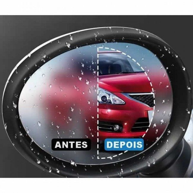 Película para Retrovisor Anti-embassante Retrovisor Carro Moto Redondo Para Uma Viagem É Mais Segura 2 pçs