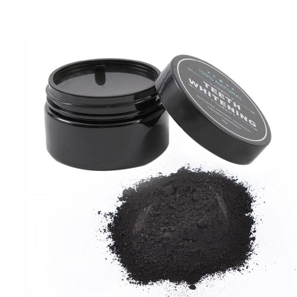 Pó Clareador Dental 100% Carvão Ativado + Escova Especial