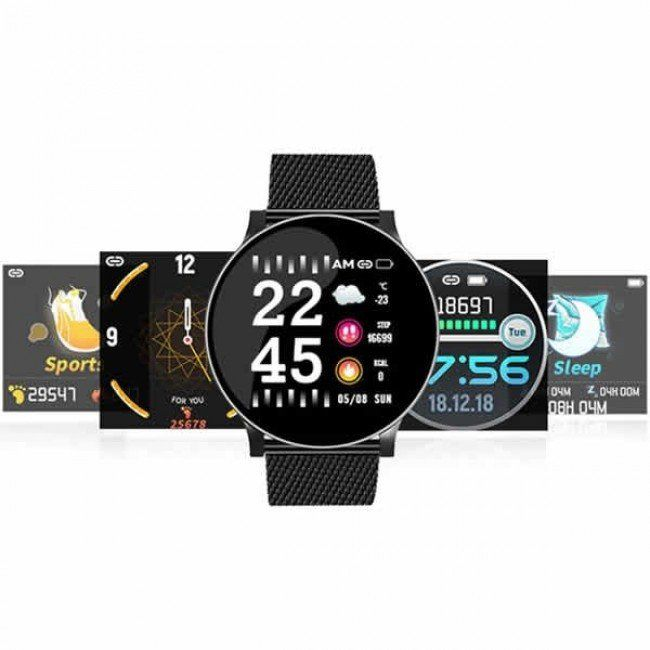 Relógio Smartwatch Metal Redondo Pulseira Inteligente Monitoramento Cardíaco