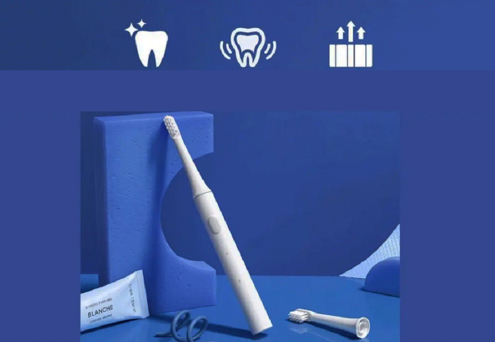 Xiaomi Mijia T100 Branco Mi Escova de dentes elétrica inteligente