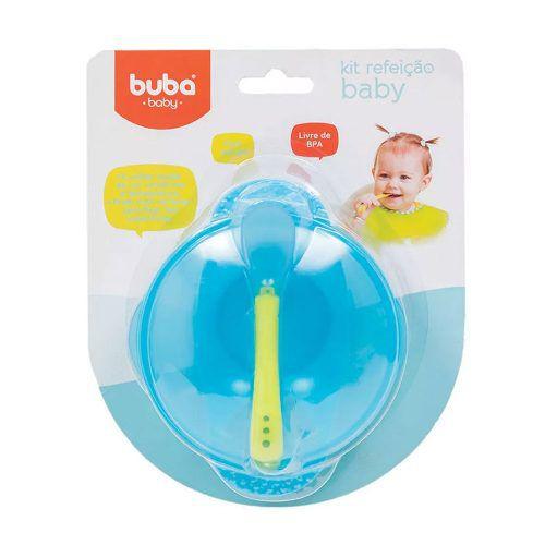 Kit Refeicao Buba Azul Bebe Termosensivel