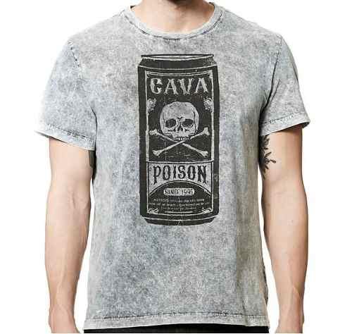 Camiseta Cavalera Masculina Manga Curta Poison Lata  - Pick Tita