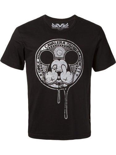 Camiseta Masculina Cavalera Mickey