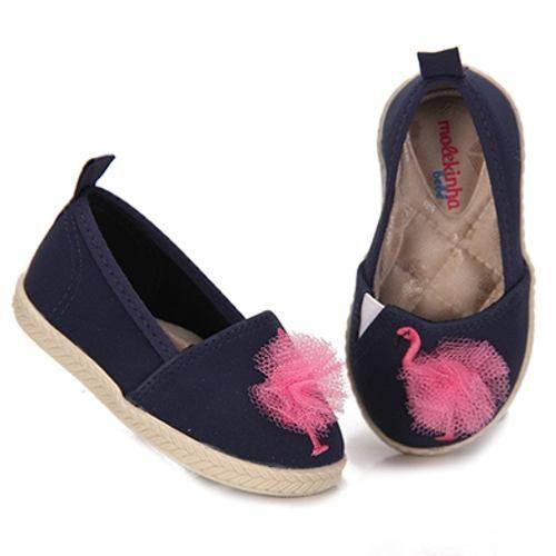 Sapatilha Molekinha Feminina Infantil Slip On Flamingo