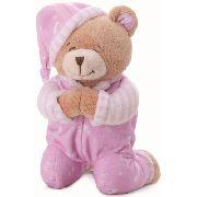 Urso Que Reza Buba Toys Rosa Bebe