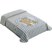 Cobertor Berço Colibri Superstar Urso King Size Cinza ou Azul