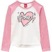 Camiseta Kyly Manga Longa Menina